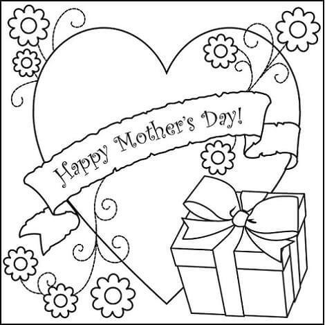 Dibujos para colorear dia de la Madre