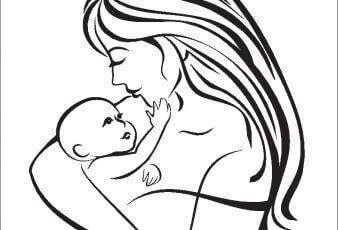 Dibujos para colorear dia de las Madres