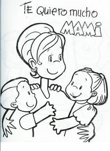 Dibujos para colorear en el dia de la madre