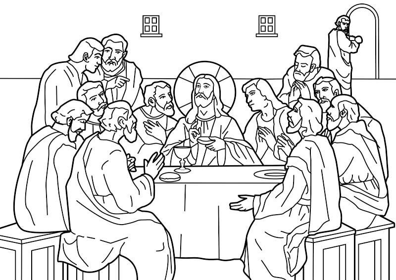 Dibujos de la Última Cena de Jesus Para Pintar