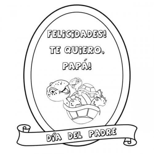 Dibujos para colorear Medalla por el dia del Padre