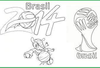 Dibujos para colorear Mundial Brasil 2014