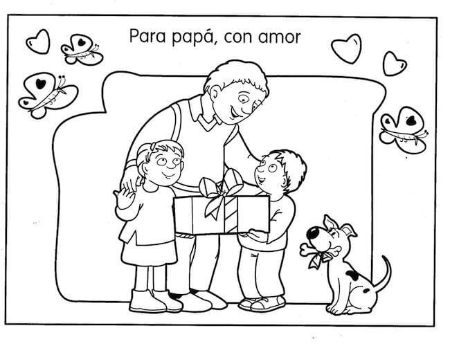 Dibujos para colorear dia del Padre