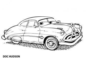 Dibujos para colorear doc hudson cars para colorear
