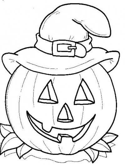 Dibujos de halloween para colorear im genes para pintar - Calabaza halloween para colorear ...