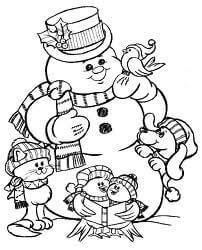 Dibujo de bola de nieve para pintar