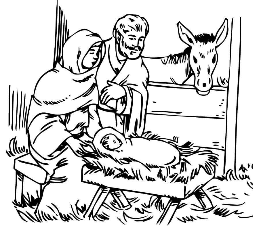 Dibujos de Nacimiento de jesus para pintar