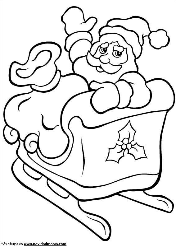 Dibujos de Santa Claus y Papa Noel Para Pintar - Imágenes ...