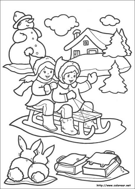 Dibujos de niños en navidad