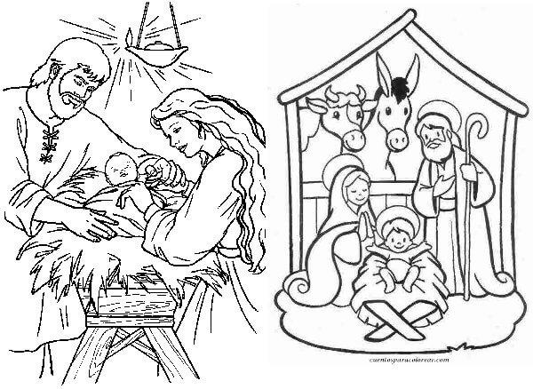 Dibujos El Nacimiento Del Niño Dios Dibujos Para Pintar Y
