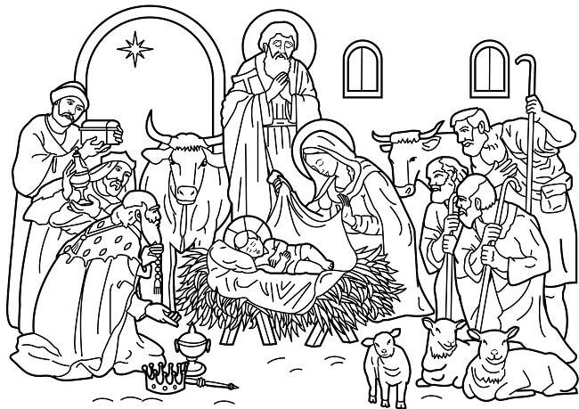 Dibujos el Nacimiento de jesus