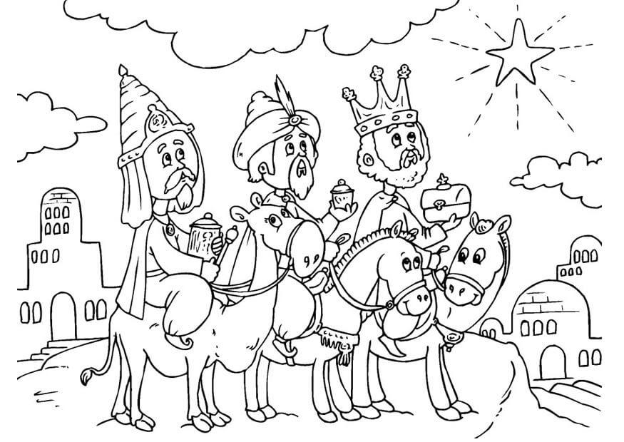 Dibujos para pintar los reyes magos