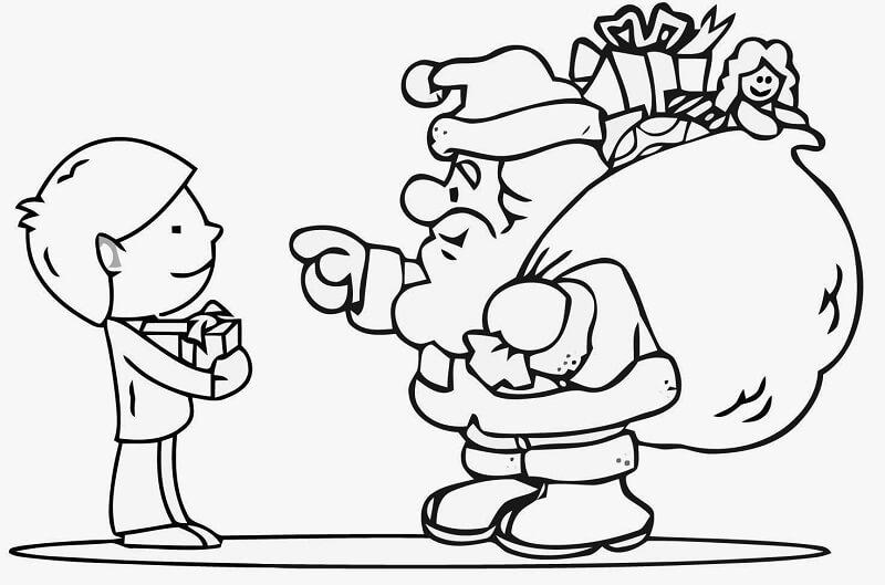 Santa Claus para Pintar Gratis