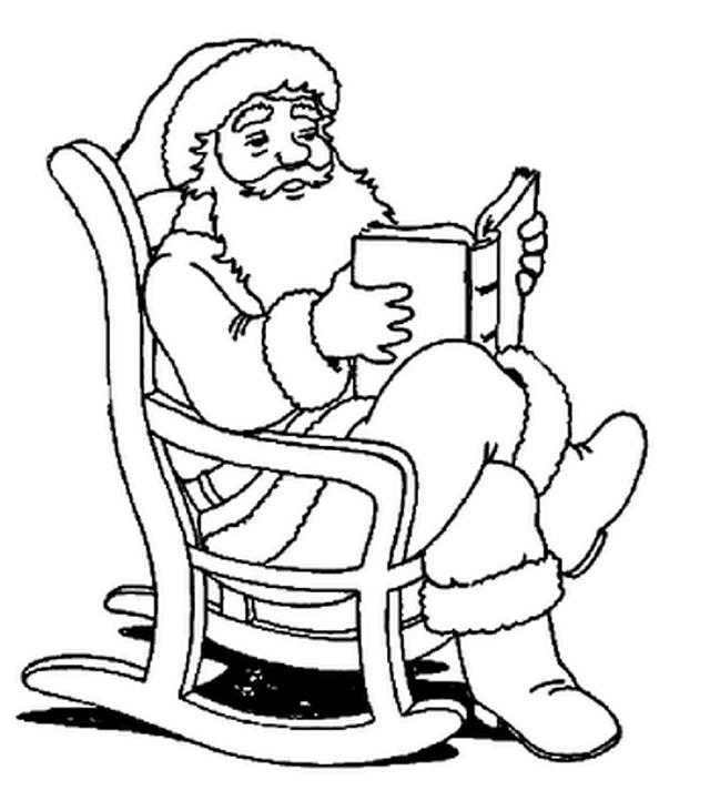 Santa Claus para Pintar y Colorear Gratis
