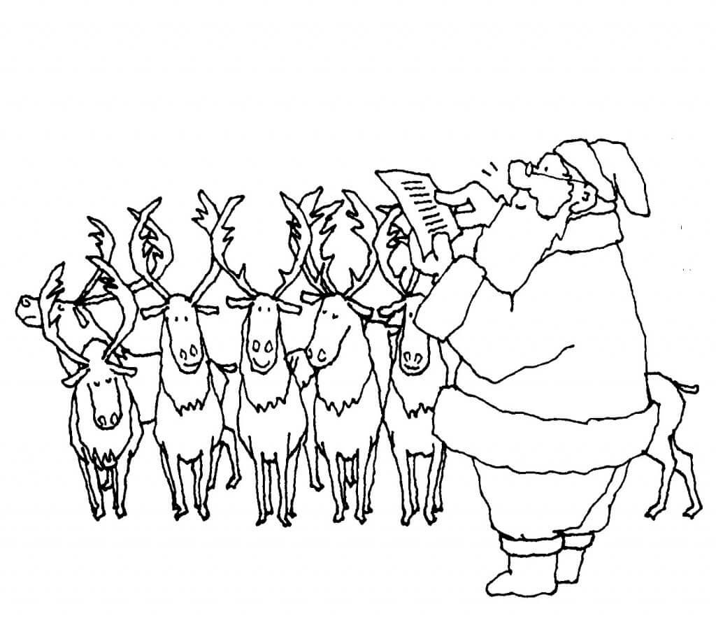 dibujos colorear navidad papa noel