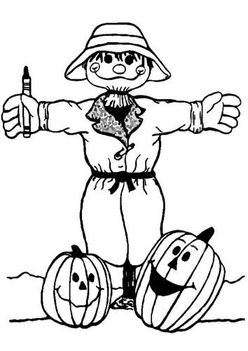 dibujos de espantapajaros halloween