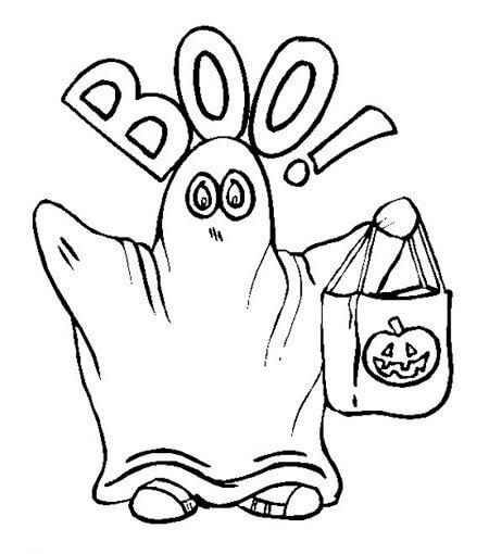 fantasmas para pintar de Halloween