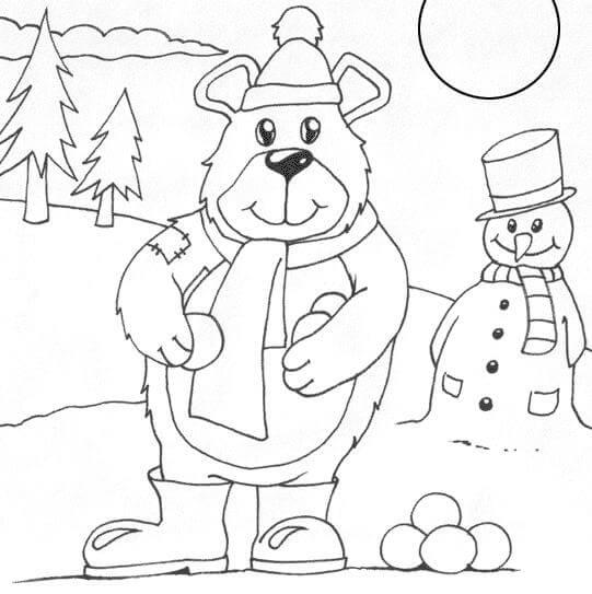 Dibujo Navidad para colorear