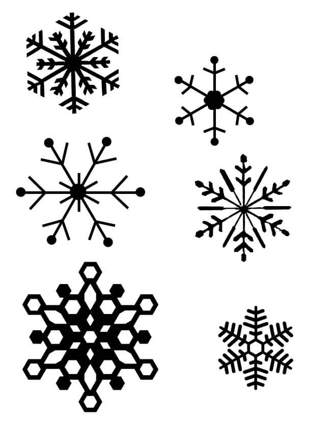 Dibujos de  copo de nieve para Pintar Gratis