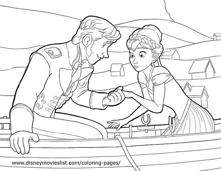 Frozen Dibujos Para Colorear E Imprimir: FROZEN: Lindos Dibujos De La Princesa Anna Y Elsa