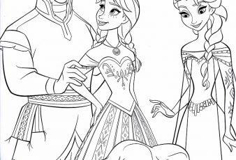 FROZEN: Lindos dibujos de la princesa Anna y Elsa