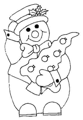 Dibujos de Muñeco de Nieve para Pintar
