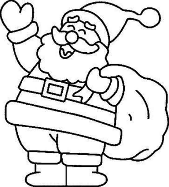 Imágenes Para Colorear De Papa Noel Imagenes De Santa Claus