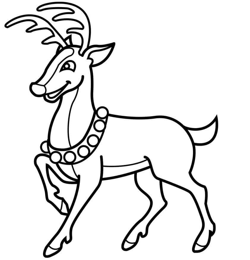 dibujos de renos de navidad para pintar gratis