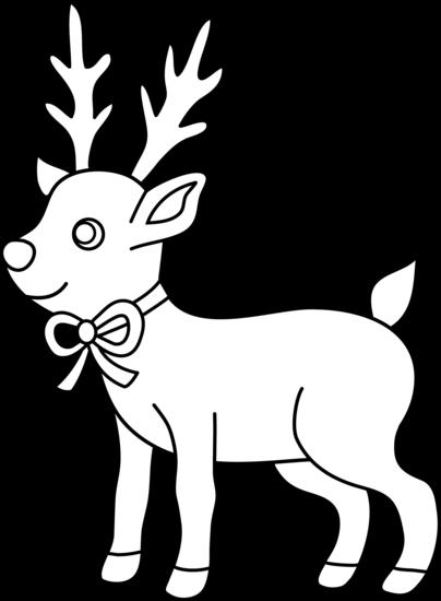 imagenes de renos para colorear