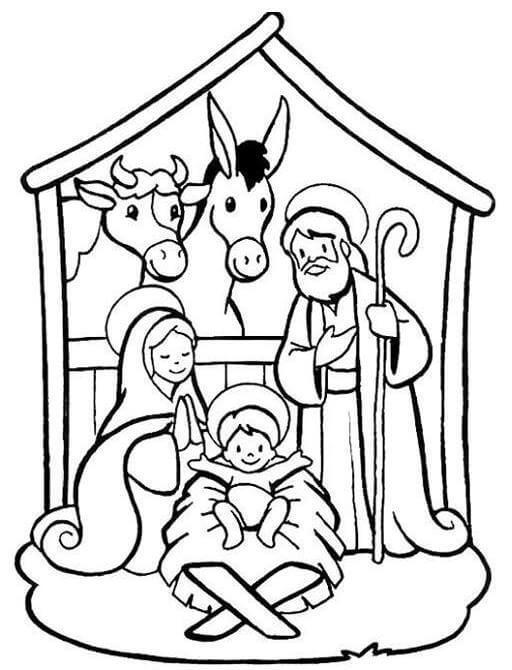 imágenes de nacimiento de jesus para pintar