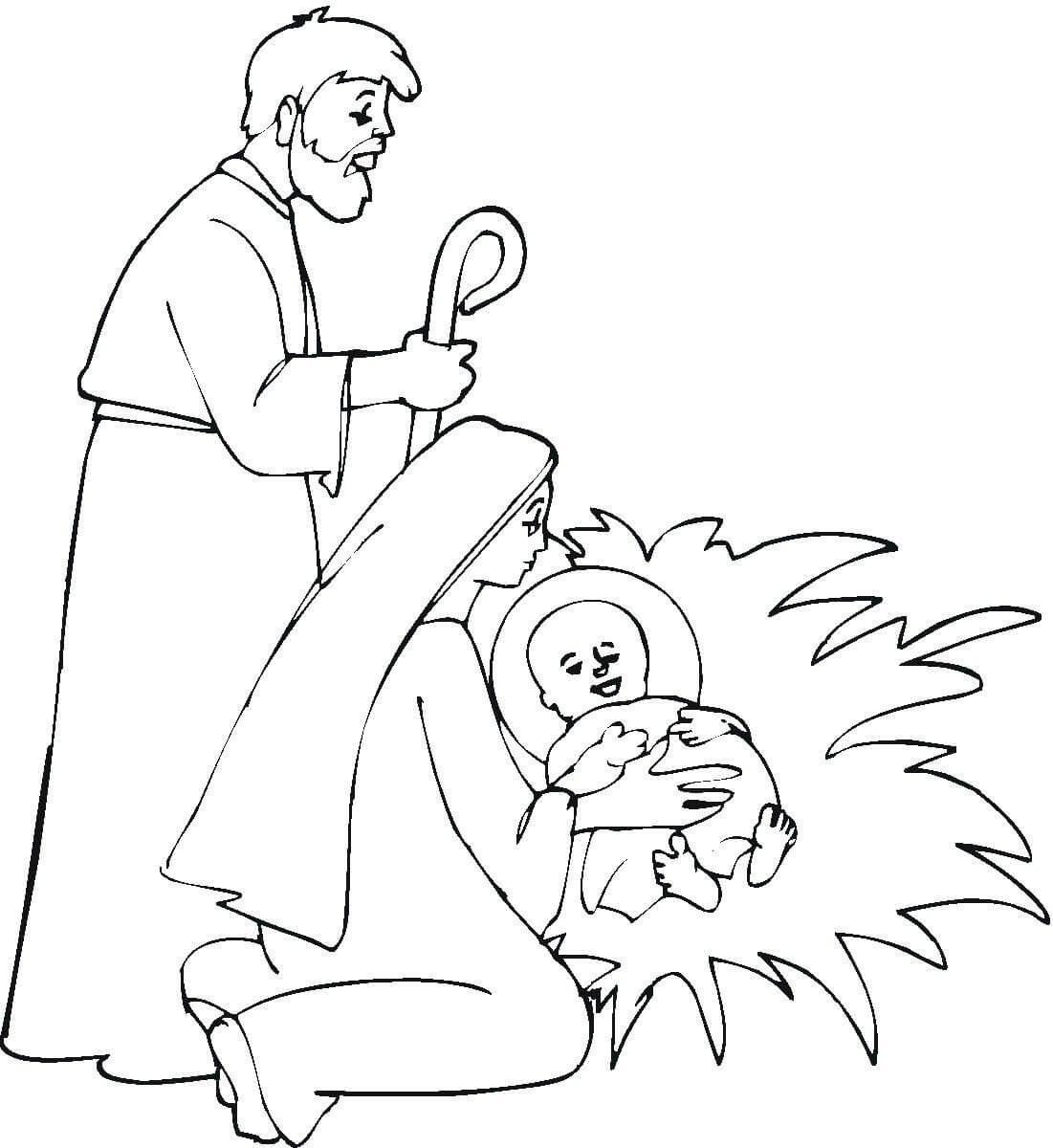 Imágenes de Nacimiento de Jesús para colorear