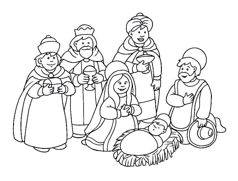 Dibujos Nacimiento para Jesús para Pintar y Colorear