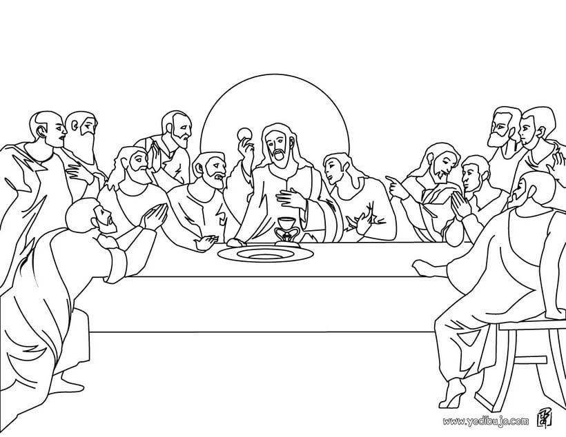 Dibujos De última Cena De Jesus Para Pintar Y Colorear Dibujos