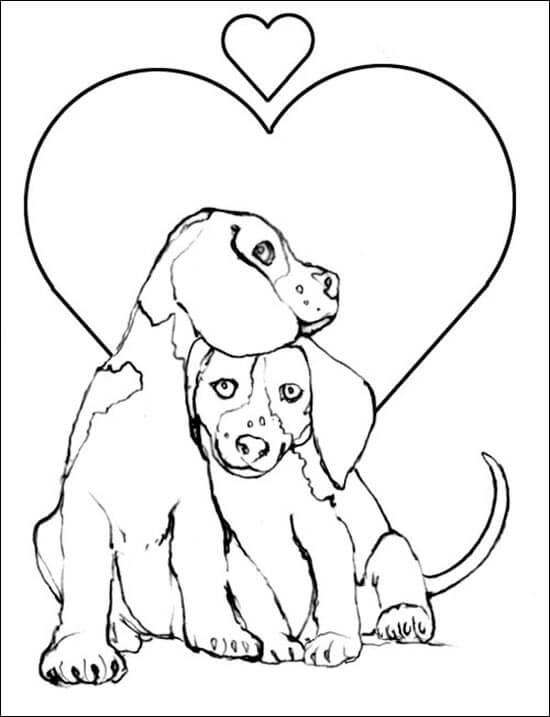 Dibujos de perros enamorados para pintar im genes para - Cane da colorare le pagine libero ...