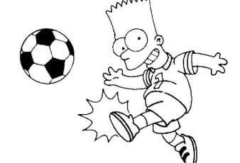 Descargar Dibujos de Bart Simpson para Pintar y Imprimir