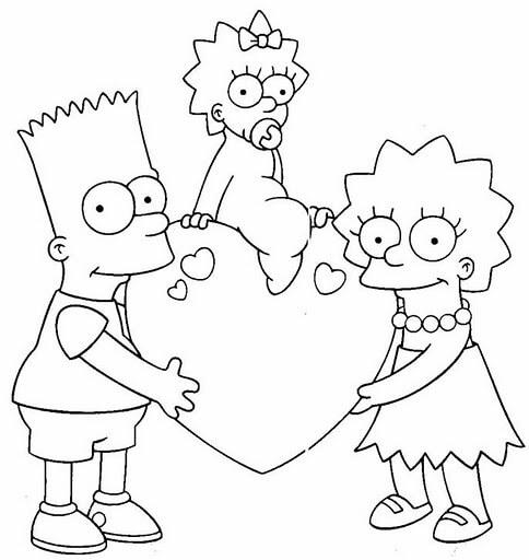 Dibujos de Bart Simpson para Pintar y Colorear