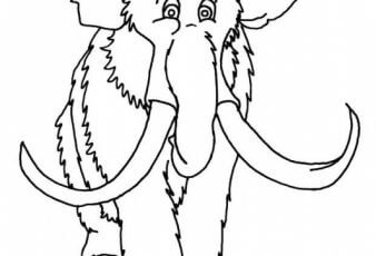 Dibujos de Mamut para Pintar y Colorear