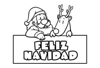 Dibujos de Feliz Navidad para Pintar e Imprimir