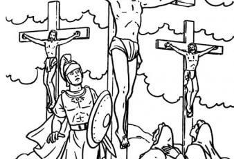 Dibujos de Jesus Crucificado Para Pintar Semana Santa