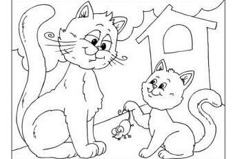 Imagenes de Gatos Para Pintar y Colorear